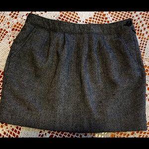 Old Navy Black White Mini Skirt